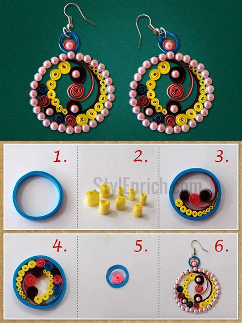 quilled jewelry tutorials step by step paper quilling earrings that can be easily made at home