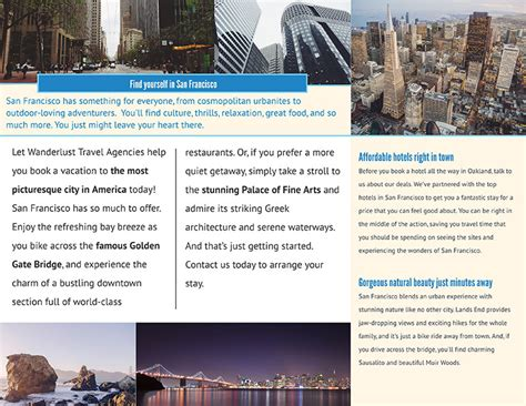 how to an awesome travel brochure with free templates