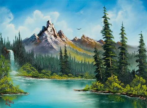 bob ross landscape paintings bob ross wilderness waterfall paintings for sale bob ross