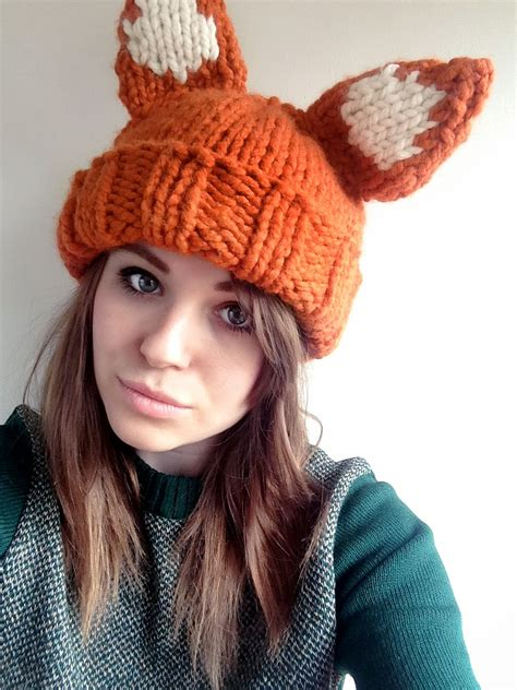 the knit company chunky foxy hat pattern sincerely louise