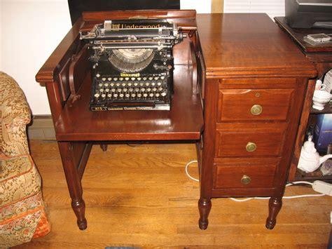 antique typewriter desk typewriter desk collectors weekly