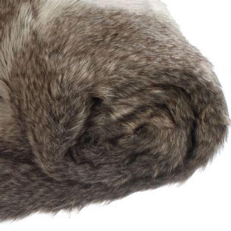 plaid imitation fourrure renard plaid fausse fourrure eminza