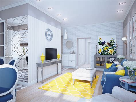 home interior accents blue and yellow home decor