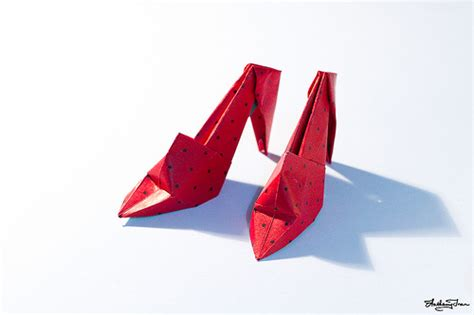 origami shoe origami high heel shoes flickr photo