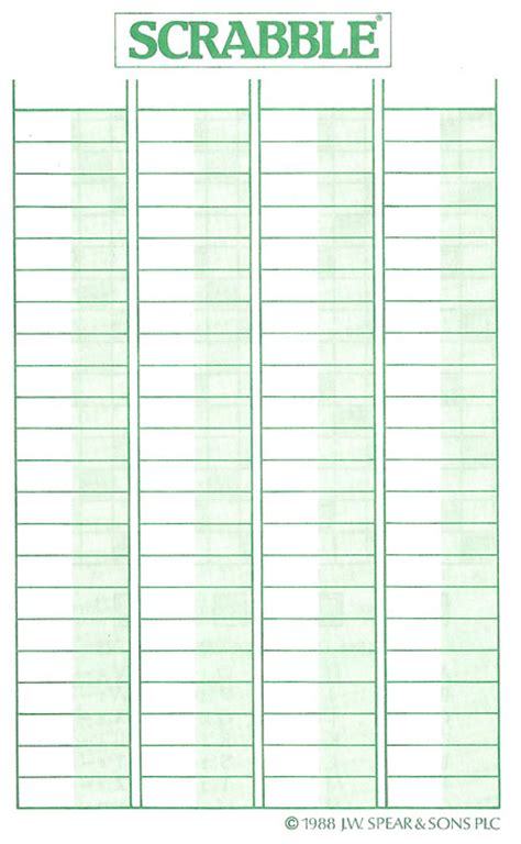 printable scrabble score sheet cluedo sheets product warranty registration