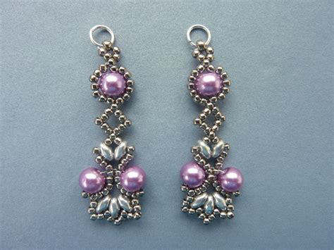 beading earrings free beading pattern for lotus lace earrings everything