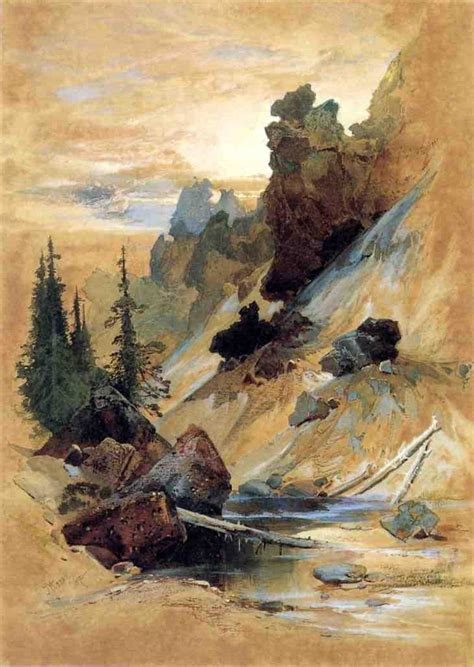 den painting the athenaeum the devils den on cascade creek