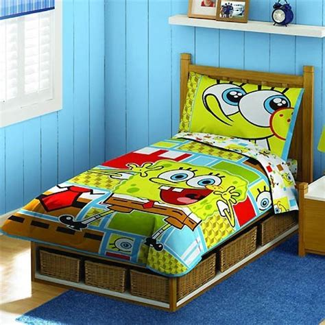 spongebob bed sets spongebob squarepants bedding 4 toddler bedding