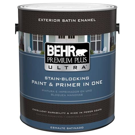 home depot paint and primer in one colors behr premium plus ultra 1 gal ultra white satin