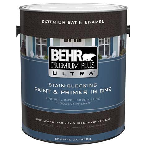 behr exterior paint primer colors behr premium plus ultra 1 gal ultra white satin