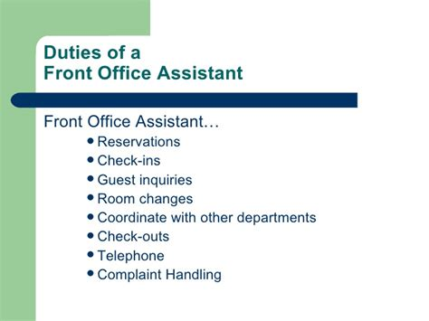 duties of front desk officer duties of front desk officer introduction to front