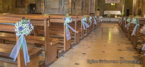 mariage en provence d 233 coration florale des bancs de l 233 glise de jouques