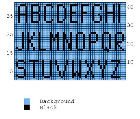 knitting letters pattern free knitting chart alphabet