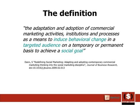 the definition of social marketing definition