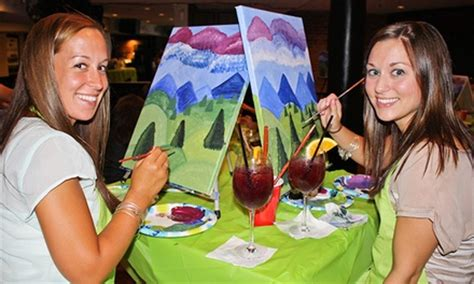 paint nite groupon roanoke va painting event at local bar paint nite groupon