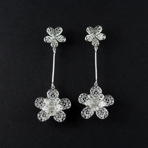 sterling silver jewelry sterling silver flower earrings wuayra