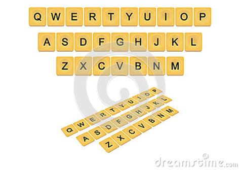 qwerty scrabble qwerty scrabble keyboard concept stock illustration