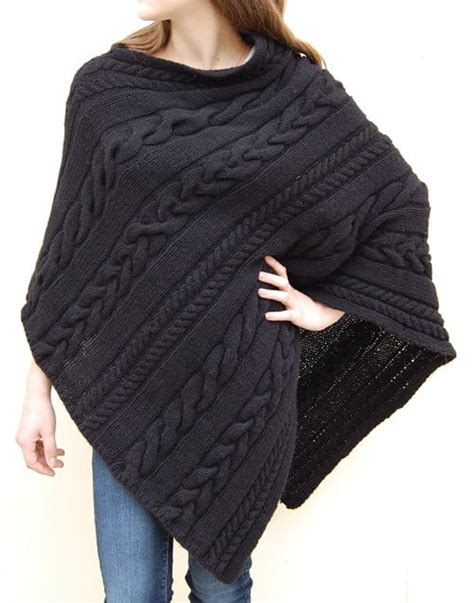 knitted poncho knitted poncho patterns with tutorial for beginners