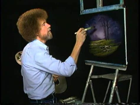 bob ross painting on black canvas bob ross the of painting a thin paint will stick to