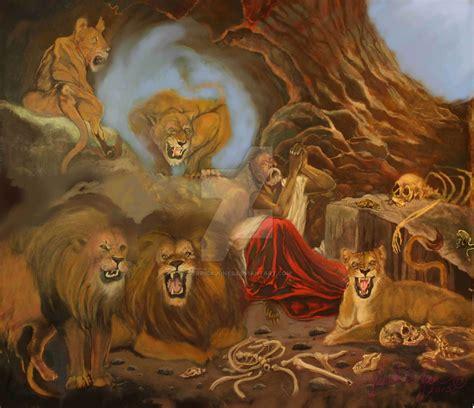 den painting daniel in the lions den by jerrickjones on deviantart
