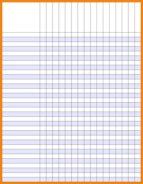 print picture book 12 printable gradebook template attendance sheet