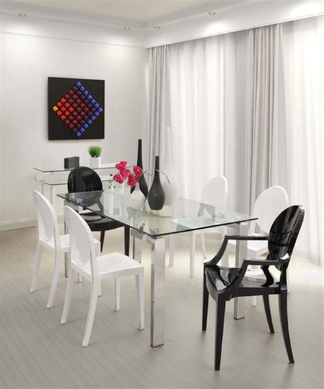 dining table tempered glass stainless steel adn tempered glass dining table minimalist