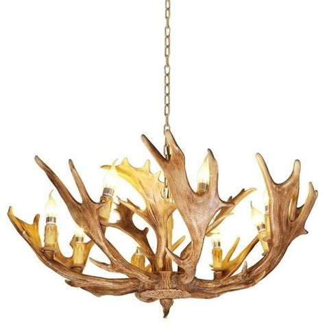 resin antler chandelier 8 lights rustic resin antler chandelier traditional