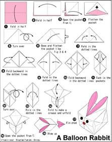how to make an origami balloon balloon origami rabbit velikonoce