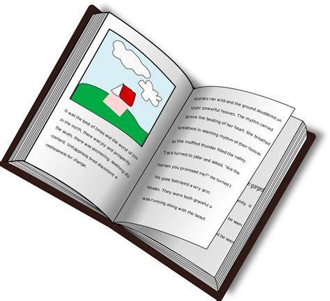 picture book texts clipart book with picture and text