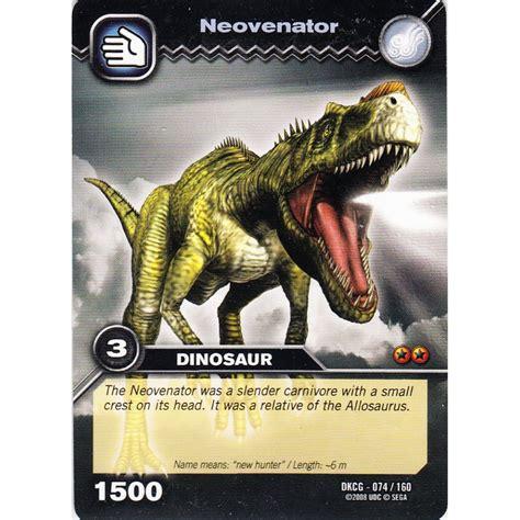 how to make dinosaur king cards deck dinosaur king card dkcg 074 neovenator common