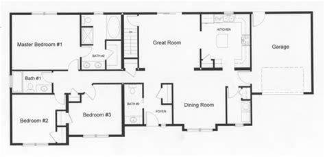 ranch plans with open floor plan ranch floor plans monmouth county county new jersey rba homes