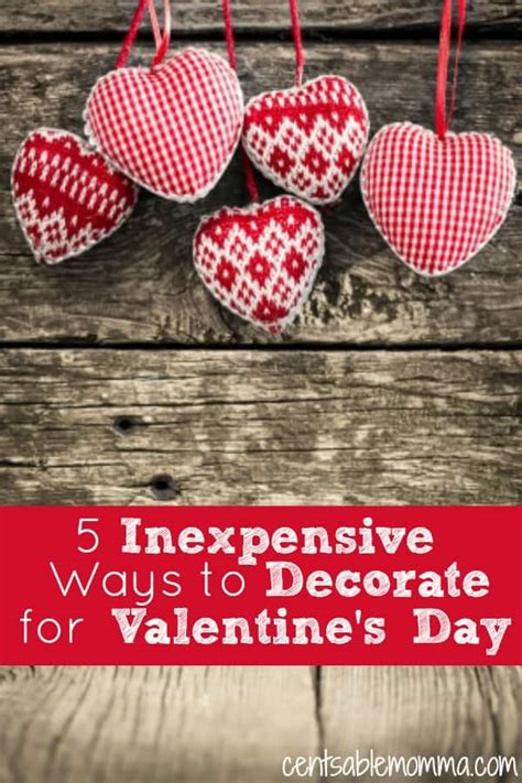inexpensive ways to decorate for 5 inexpensive ways to decorate for s day