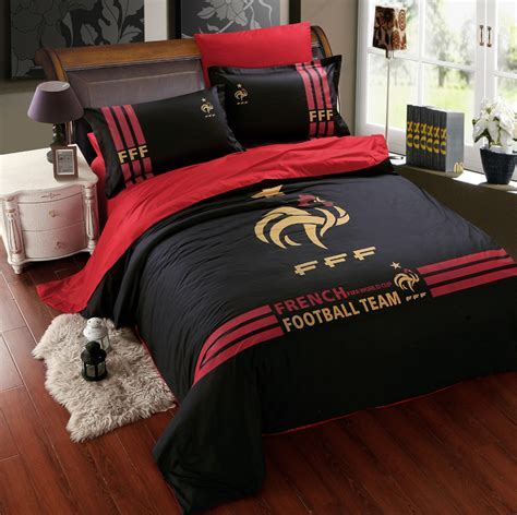 mens bedding set black cotton football team bedding sets for boys mens
