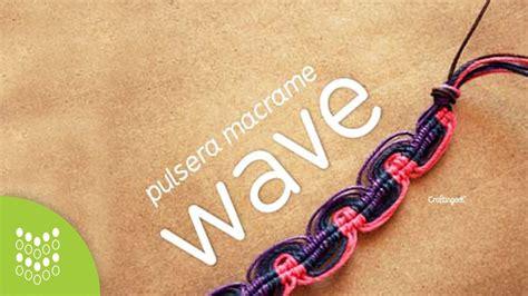 nudo de pulsera nudo wave pulsera de hilo macram 233 nudos macrame