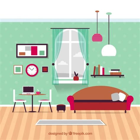 home furniture living room modern living room furniture vector premium
