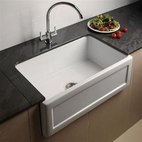 belfast kitchen sink astini belfast 760 1 0 bowl recessed white ceramic kitchen