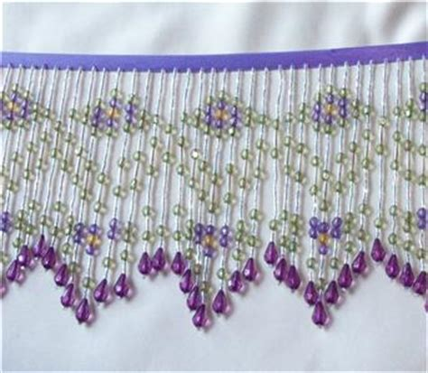 purple beaded fringe trim beautiful purple green and beaded fringe trim ebay