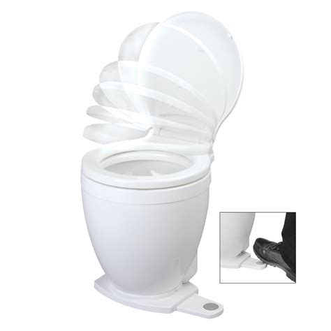 Jabsco Toilet Cleaner by Jabsco Lite Flush 12v Electric Toilet With Footswitch