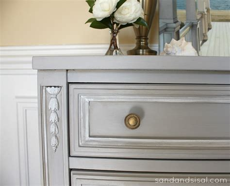 chalkboard paint light gray chalk paint 174 dresser makeover part 1 sand and sisal