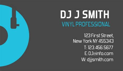dj business cards disc jockey business cards dee jay