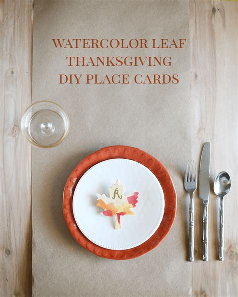 how to make thanksgiving place cards watercolor fall leaves diy thanksgiving place cards