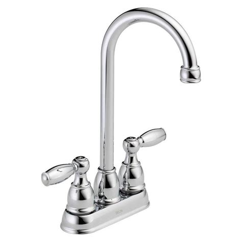 delta two handle kitchen faucet delta foundations 2 handle bar faucet in chrome b28911lf the home depot