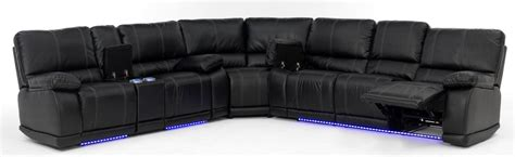 8 Pc Dining Room Set electra power reclining sectional with led lights