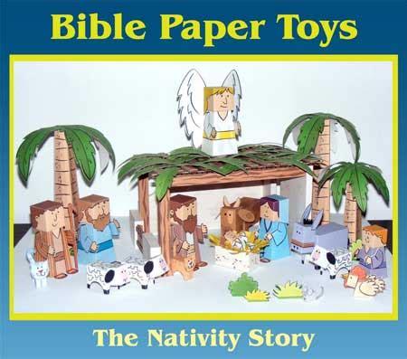 nativity paper craft bible papercraft quot nativity quot 2010