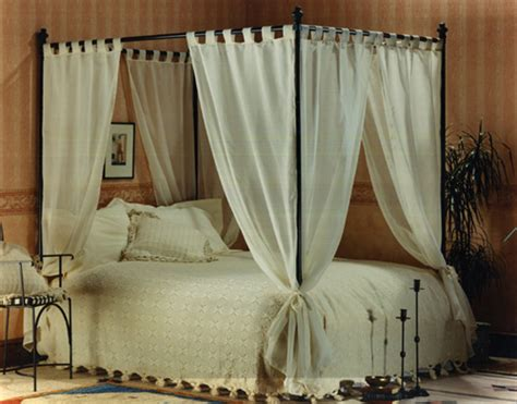 four poster bed with curtains set of voile cotton four poster bed curtains