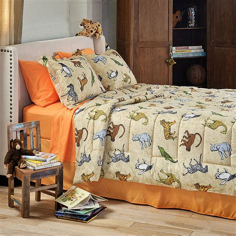 animal bedding zoo animals bedding set 8pc bed in bag size