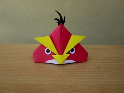angry birds origami how to make a paper angry bird easy tutorials