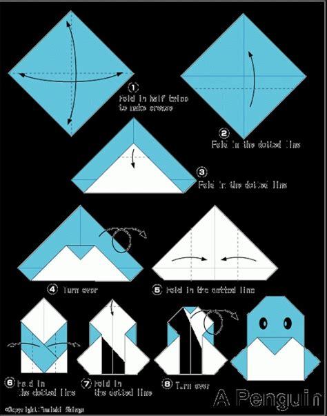origami penguin folding origami penguin craft origami