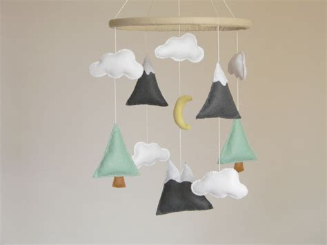 baby boy crib mobiles mountains baby mobile baby crib mobile modern by