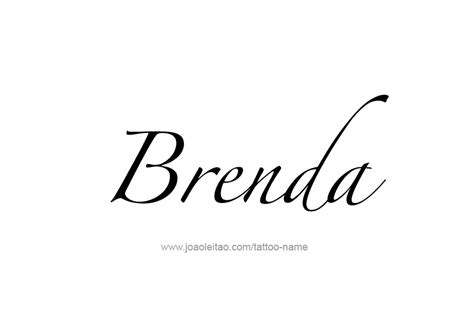 brenda name tattoo designs